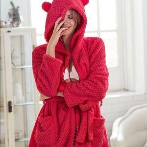 Victoria's Secret Snowball Fleece Robe with Ears
